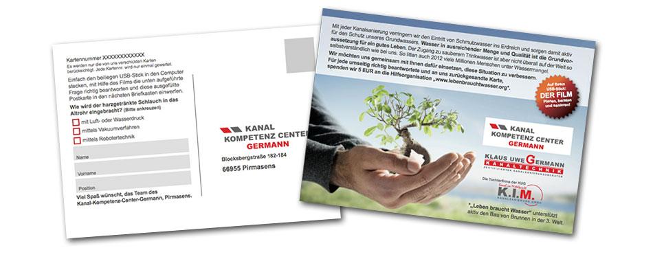 Postkarte Germann Mailing